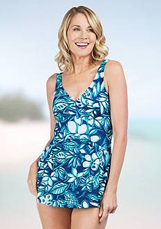 Maxine Etched Floral Empire Swimdress