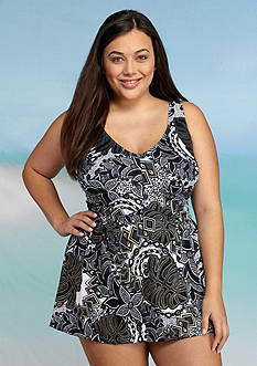 Maxine Plus Size Tribe Vibe Swimdress