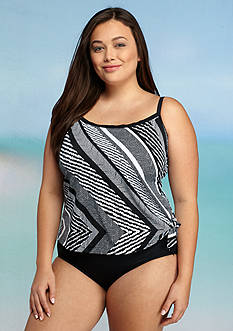 Maxine Plus Size Rio Fauxkini One-Piece