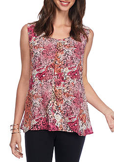 Kim Rogers Sleeveless Chiffon Top