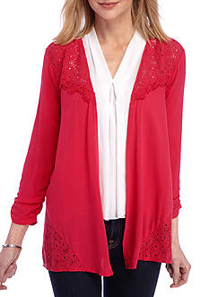 Kim Rogers 3/4 Sleeve Lace Cozy