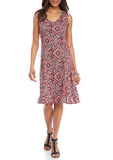 Kim Rogers Sleeveless Printed Dress