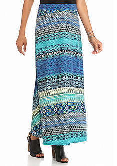 Kim Rogers® Print Ity Center Slit Skirt