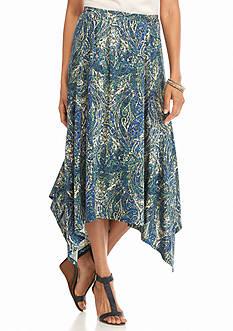Kim Rogers Print Ity Skirt