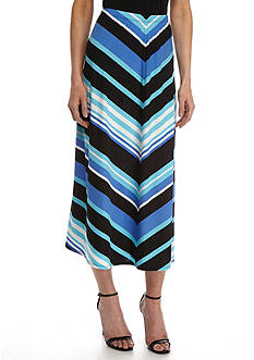 Kim Rogers Mitered Stripe Skirt