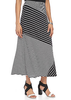 Kim Rogers Twin Print Spliced Maxi Skirt