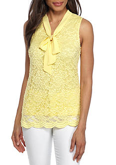 Kim Rogers® Bow Neck Lace Cami