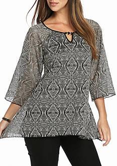 Kim Rogers Crochet Scoop Neck Shirt