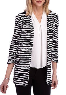 Kim Rogers Print Open Front Jacket