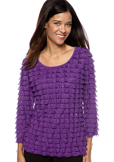 Kim Rogers® Solid Eyelash Pullover