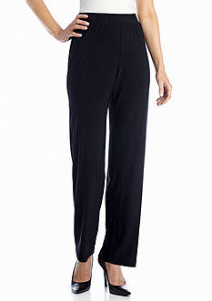 Kim Rogers® Pull On Flat Front Slinky Pant