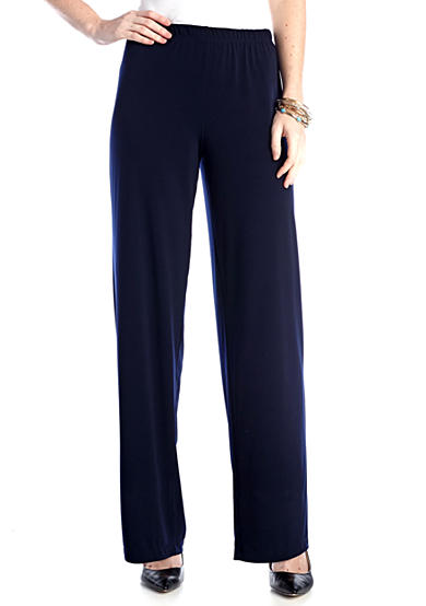 Kim Rogers® Pull On Flat Front Pants