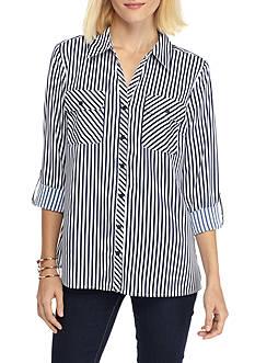 Kim Rogers Y-Neck Stripe Utility Shirt