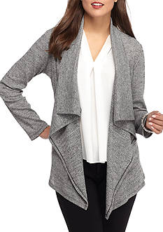 Kim Rogers Long Sleeve Waterfall Front Cardigan