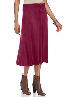 Kim Rogers Faux Suede Skirt