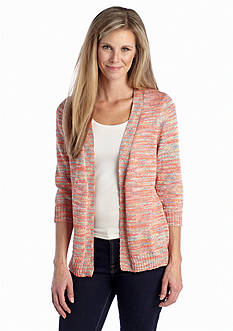 Kim Rogers® Marled Open Front Cardigan