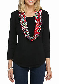 Kim Rogers 3/4 Sleeve Scoop Neck Sweater