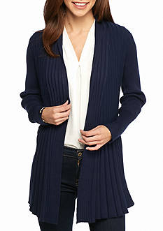 Kim Rogers® Long Sleeve Open Front Textured Cardigan