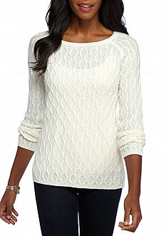 Kim Rogers Textured Swing Hem Sweater