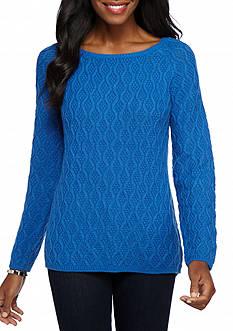 Kim Rogers Textured Swing Hem Sweater