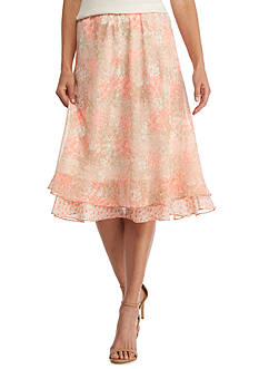 Kim Rogers Two Layer Floral Print Chiffon Skirt