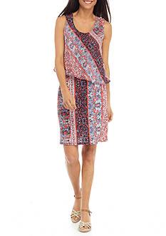 Kim Rogers Petite Size Popover Dress
