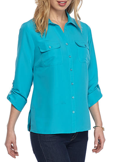 Kim Rogers® Petite Size Utility Button Up