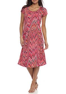Kim Rogers Petite Size Cap Sleeve Dress
