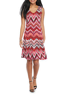 Kim Rogers® Petite Sleeveless V-Neck Godet Dress