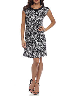 Kim Rogers Petite Size Princess Seam Dress