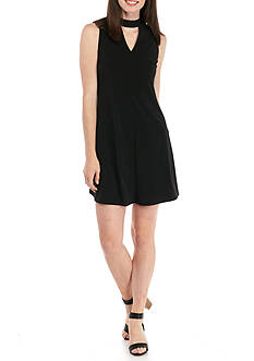 Kim Rogers Petite Sleeveless Keyhole Neck Jersey Dress