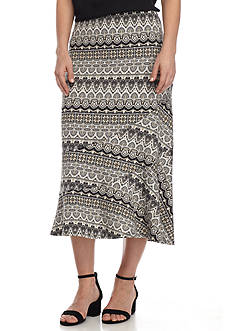 Kim Rogers Petite Size Seamed Geometric Skirt