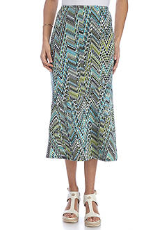 Kim Rogers® Petite Size Printed Seamed Skirt