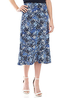 Kim Rogers® Petite Size Seamed Floral Skirt