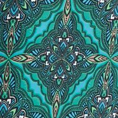 Petite Pants: Turq Dragon Kim Rogers Petite Border Print Palazzo Pant