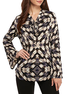 Kim Rogers Petite Size Bell Sleeve Blouse