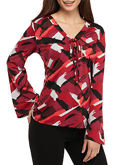 Kim Rogers® Petite Size Bell Sleeve Blouse