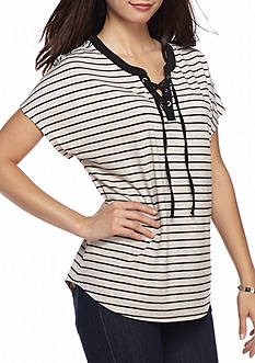 Kim Rogers Petite Biadere Knit Top