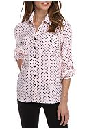 Kim Rogers® Petite Size Allover Print Button