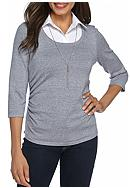 Kim Rogers® Sweater 2Fer
