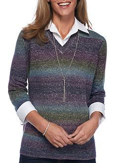 Kim Rogers Petitie Sweater 2Fer