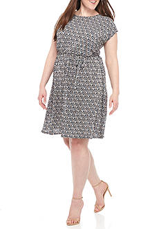 Kim Rogers® Plus Size Textured Dress