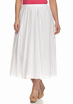 Kim Rogers® Plus Size Lace Panel Skirt