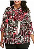 Kim Rogers® Plus Size Utility Top