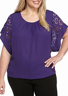 Kim Rogers® Plus Size Dolman Sleeve Knit Top