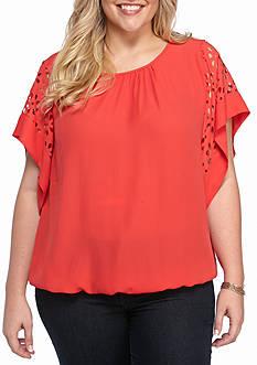 Kim Rogers Plus Size Dolman Sleeve Knit Top