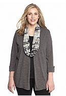 Kim Rogers® Plus Size Three Quarter Sleeve