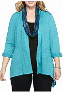 Kim Rogers® 3Fer Top With Scarf