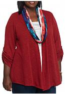 Kim Rogers® Plus Size 3Fer Top With Scarf