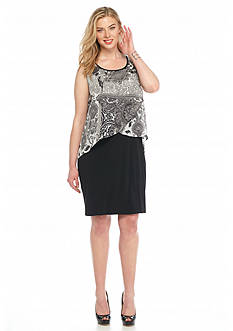 Kim Rogers® Plus Size Printed Popover Dress